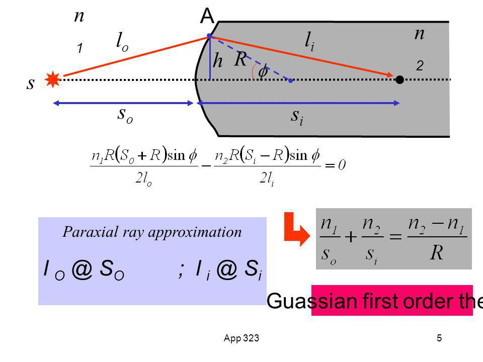 Guassian first order theory