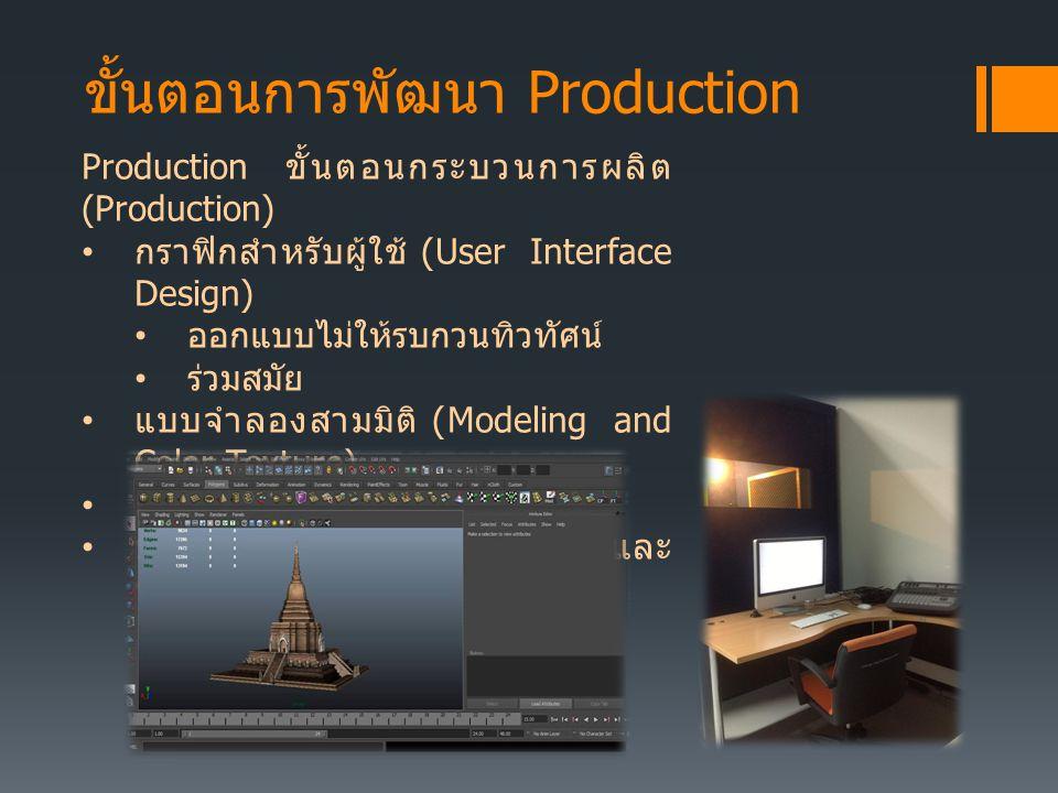 ขั้นตอนการพัฒนา Production