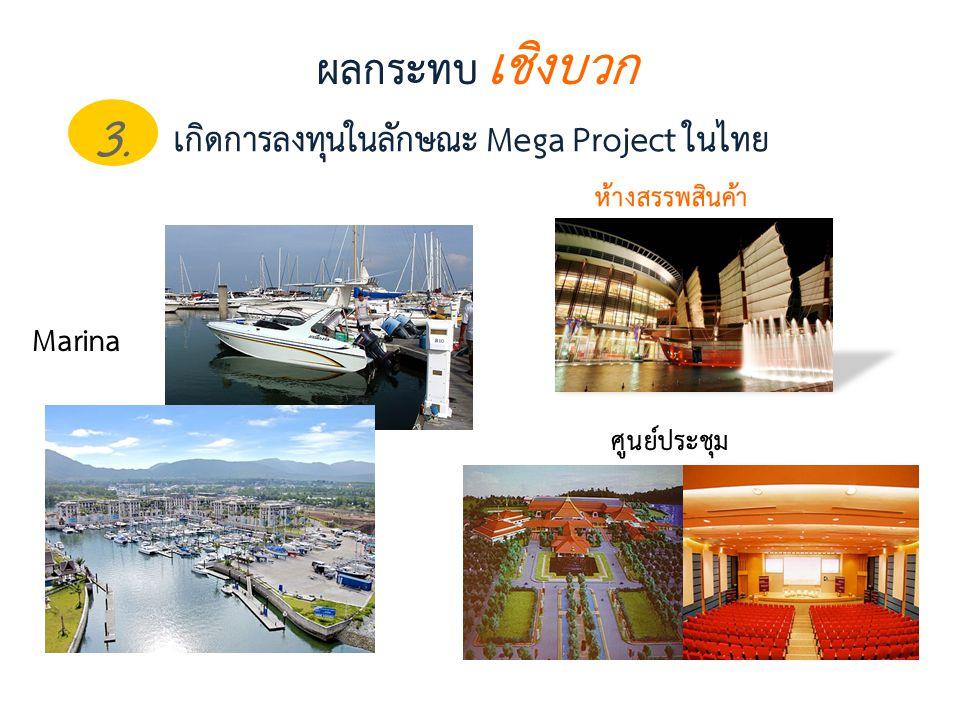 3. ผลกระทบ เชิงบวก เกิดการลงทุนในลักษณะ Mega Project ในไทย Marina