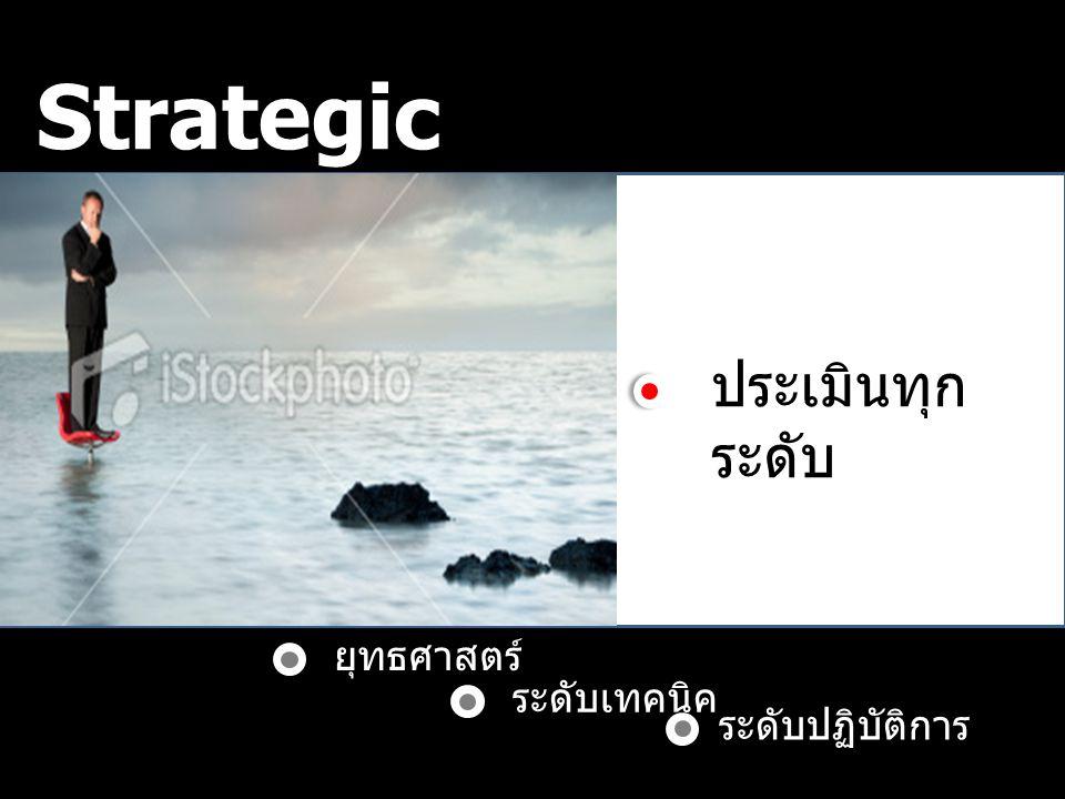 Strategic Control ประเมินทุกระดับ ยุทธศาสตร์ ระดับเทคนิค