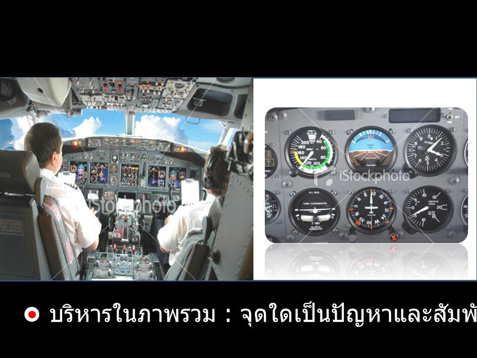 Management Cockpit บริหารในภาพรวม : จุดใดเป็นปัญหาและสัมพันธ์กับจุดอื่นอย่างไร