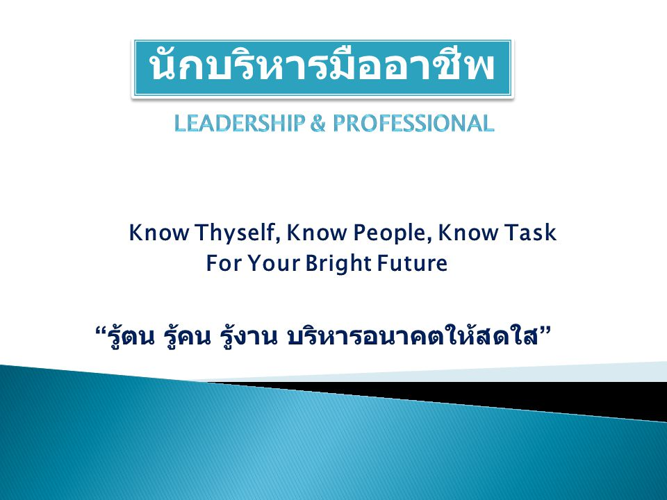 Leadership & Professional