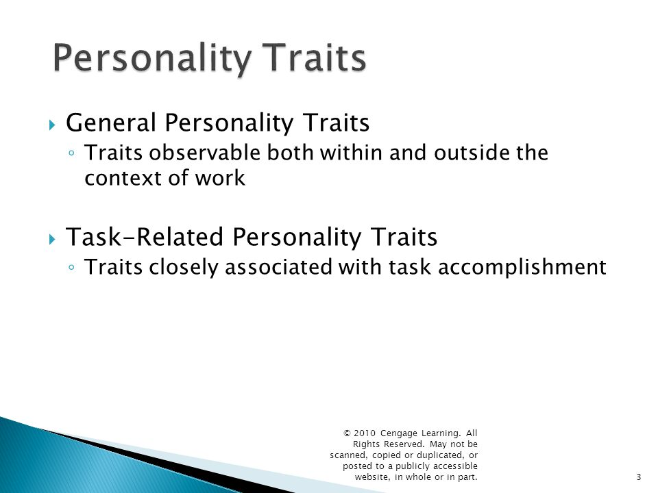 Personality Traits General Personality Traits