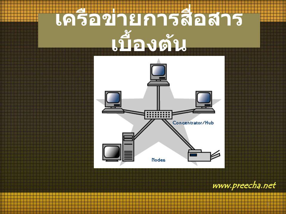 เครือข่ายการสื่อสารเบื้องต้น