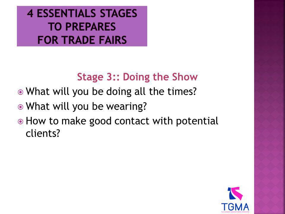 4 Essentials stages to prepares for trade fairs