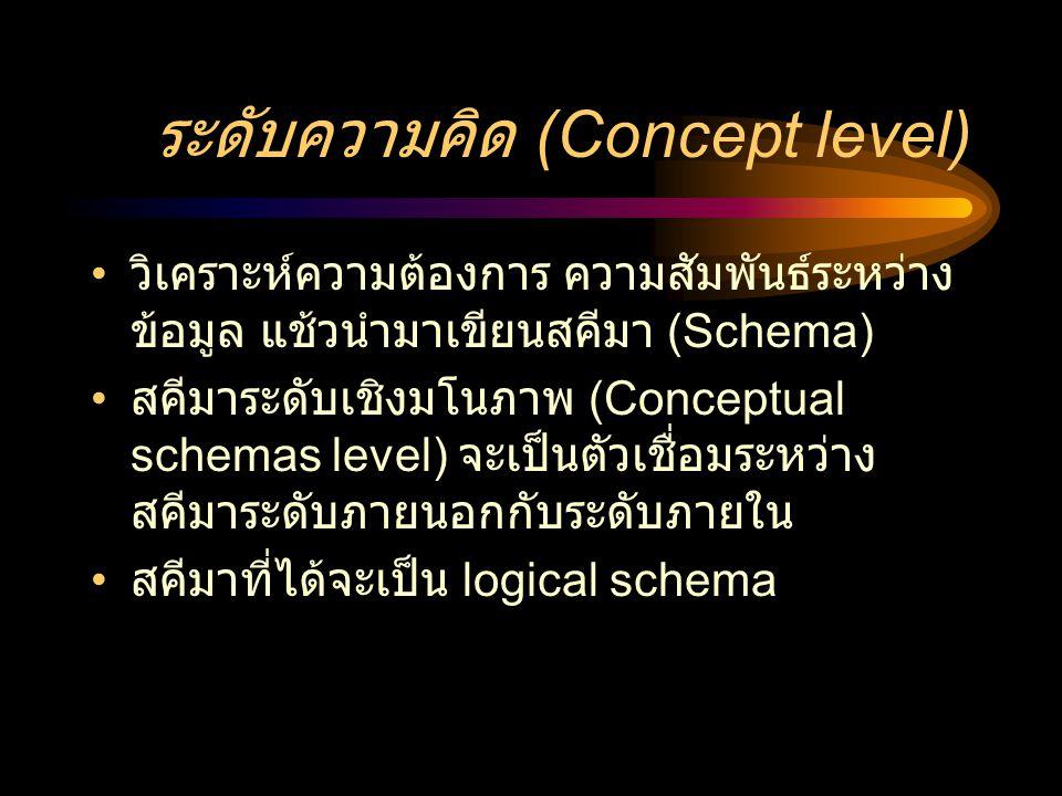 ระดับความคิด (Concept level)