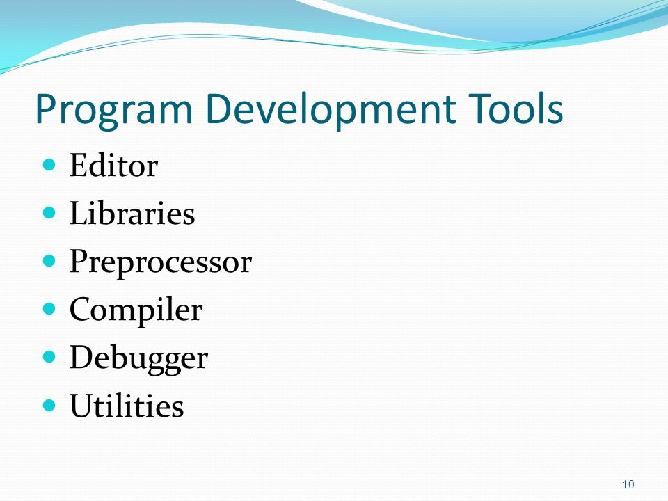 Program Development Tools