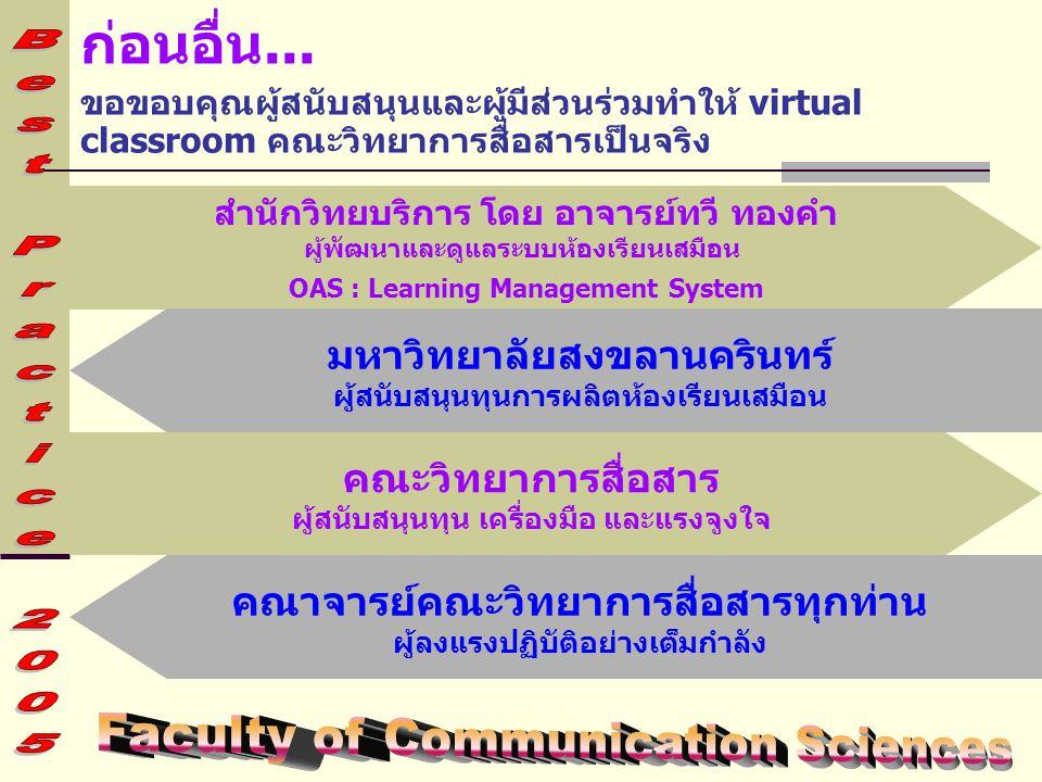 ก่อนอื่น... Faculty of Communication Sciences มหาวิทยาลัยสงขลานครินทร์