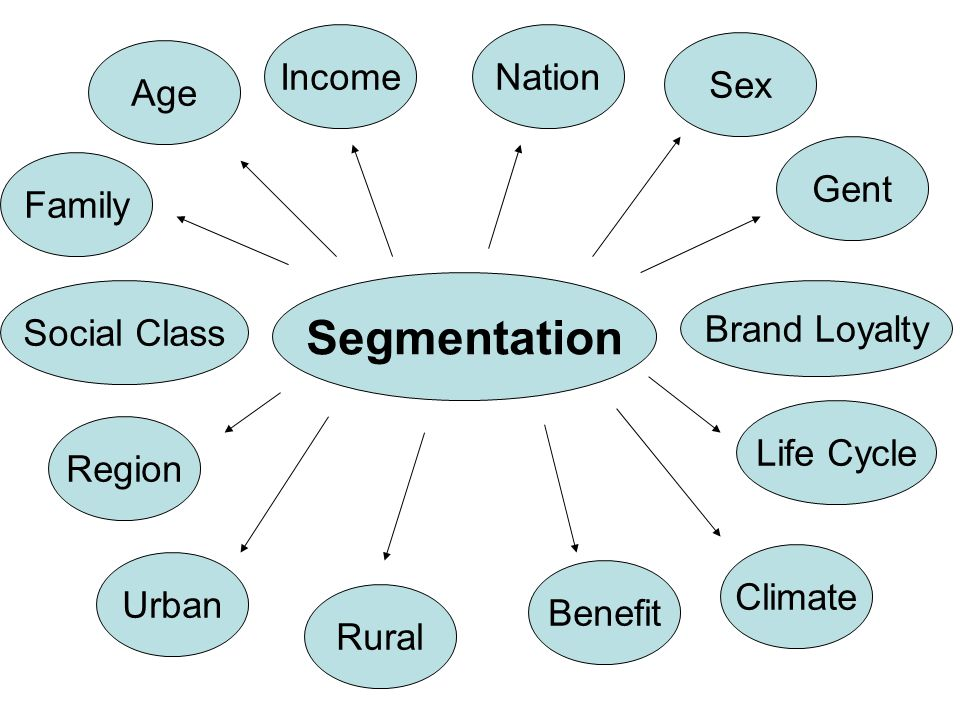 Segmentation Income Nation Sex Age Gent Family Social Class