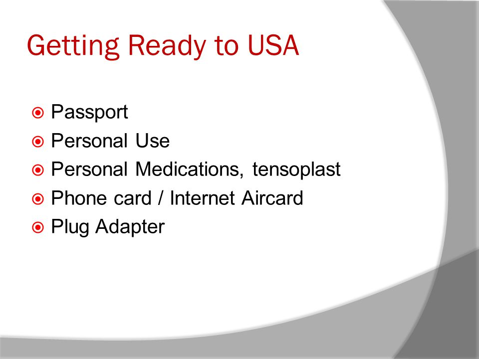 Getting Ready to USA Passport Personal Use
