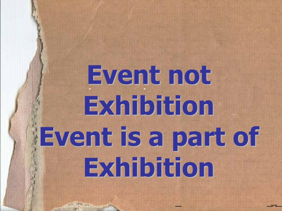 Event is a part of Exhibition