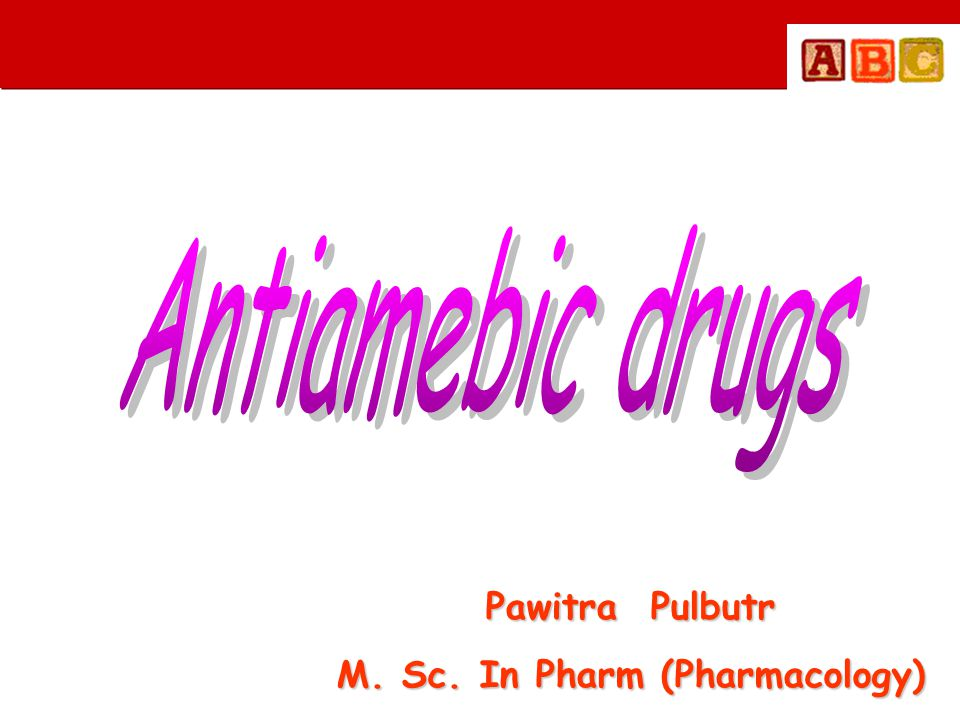 M. Sc. In Pharm (Pharmacology)
