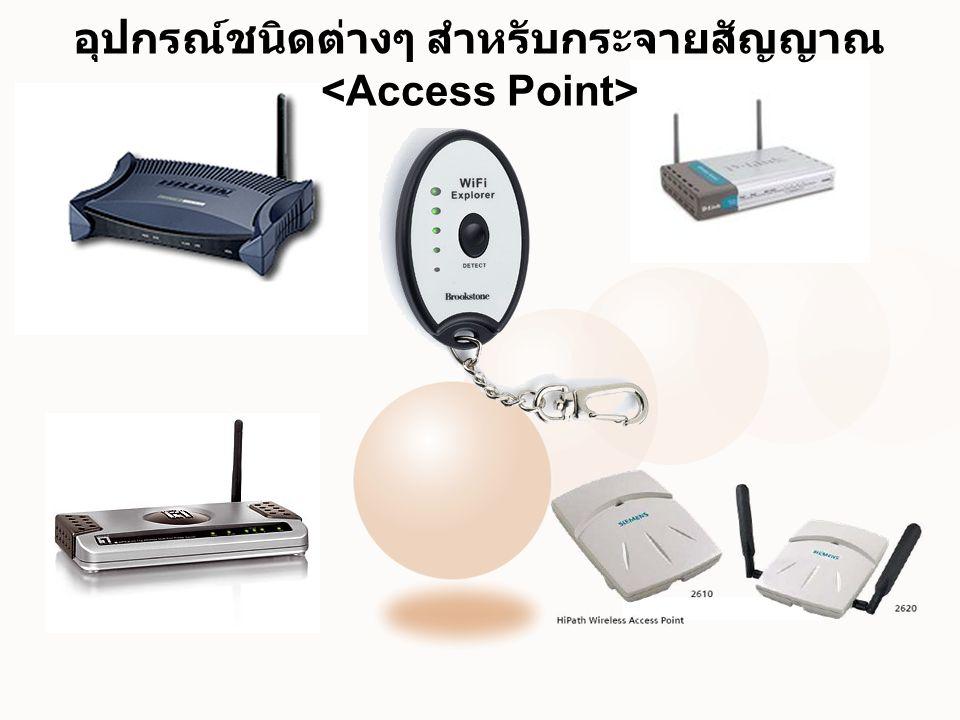 อุปกรณ์ชนิดต่างๆ สำหรับกระจายสัญญาณ <Access Point>