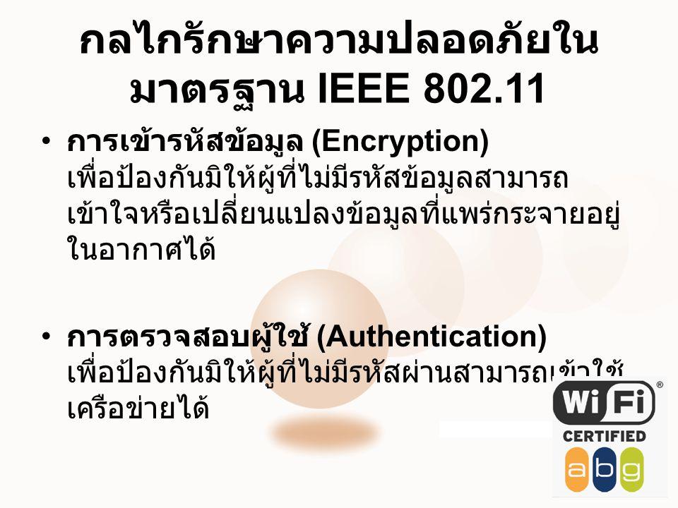 กลไกรักษาความปลอดภัยในมาตรฐาน IEEE 802.11