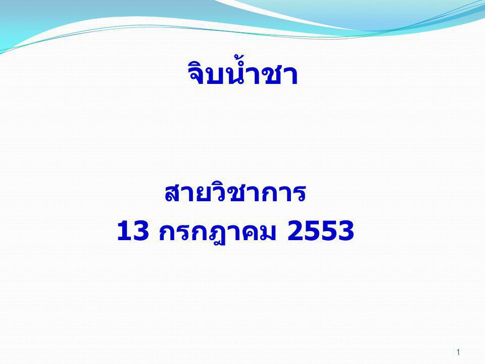 จิบน้ำชา สายวิชาการ 13 กรกฎาคม 2553