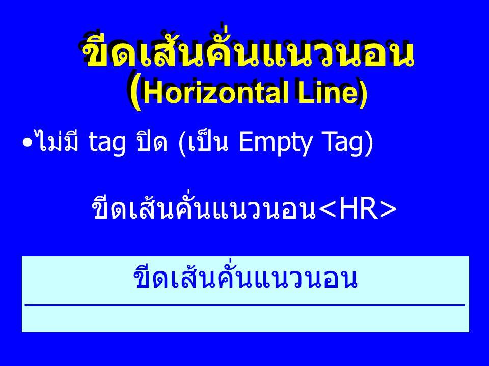 ขีดเส้นคั่นแนวนอน (Horizontal Line)