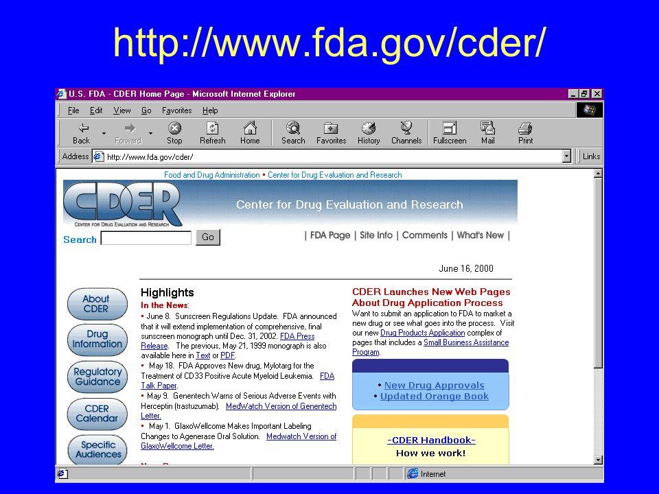 http://www.fda.gov/cder/