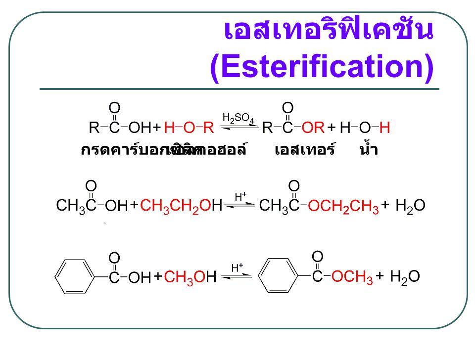 เอสเทอริฟิเคชัน(Esterification)