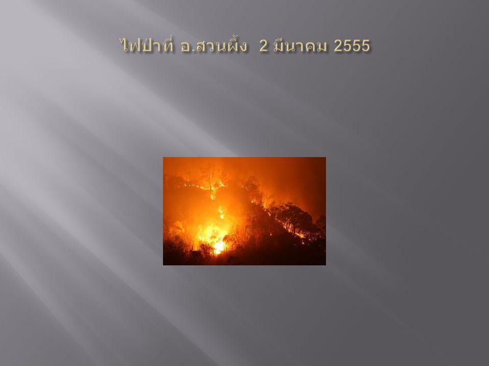 ไฟป่าที่ อ.สวนผึ้ง 2 มีนาคม 2555