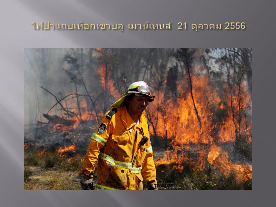 ไฟป่าแถบเทือกเขาบลู เมาน์เทนส์ 21 ตุลาคม 2556