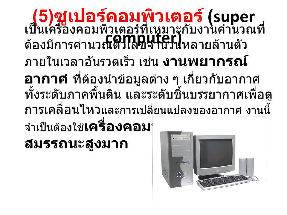 (5)ซูเปอร์คอมพิวเตอร์ (super computer)