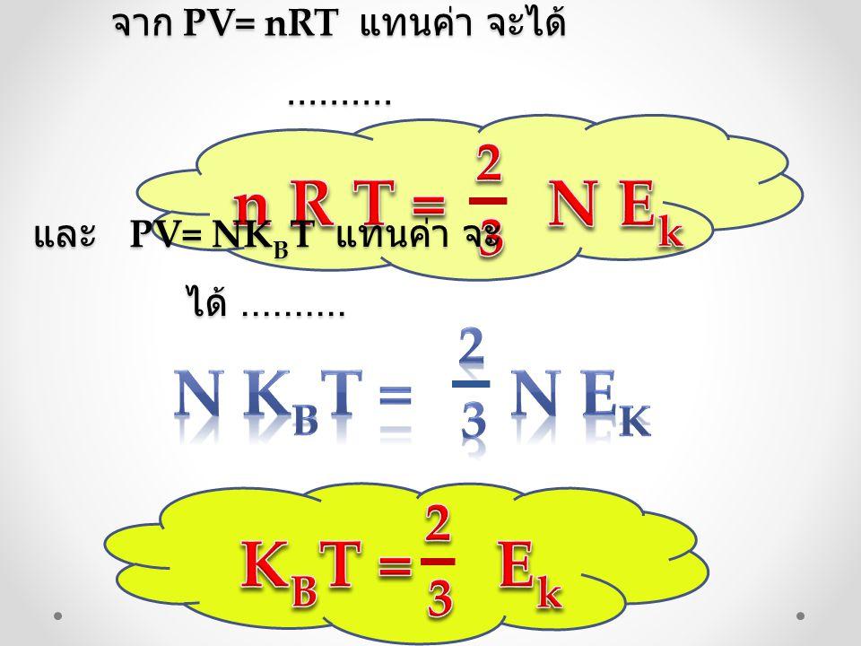 n R T = N Ek N KBT = N Ek KBT = Ek