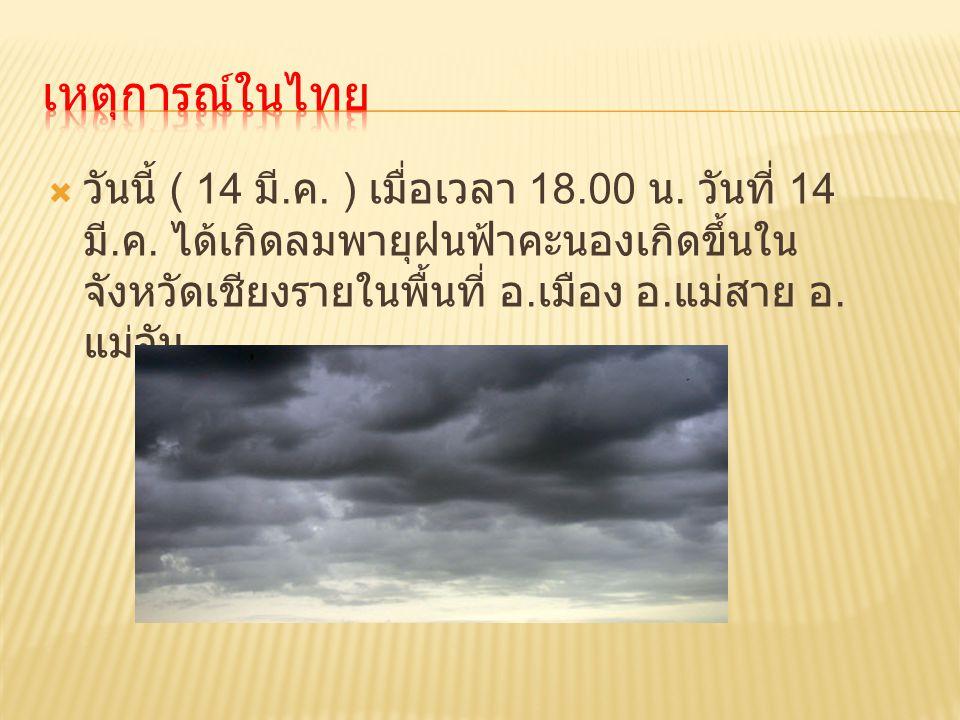 เหตุการณ์ในไทย