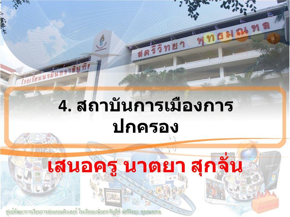 4. สถาบันการเมืองการปกครอง