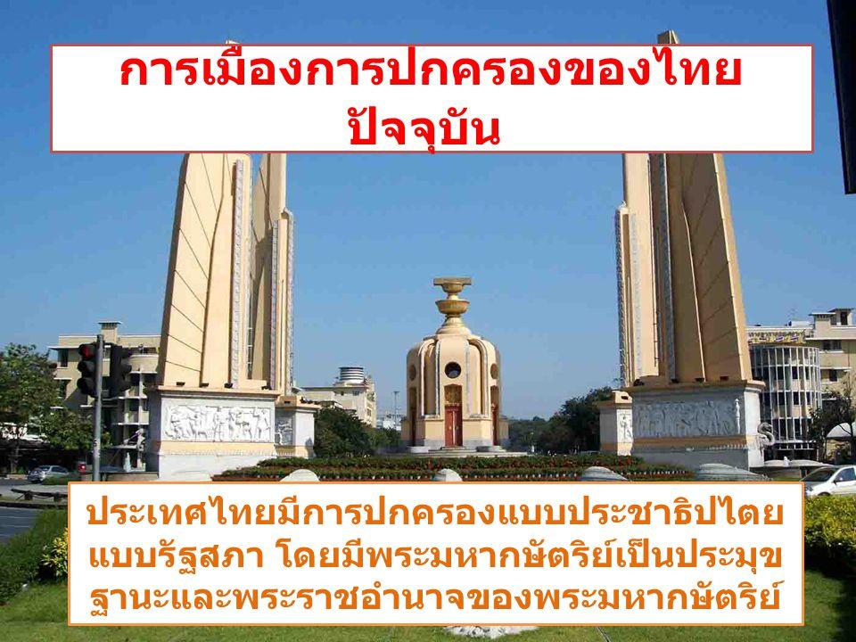การเมืองการปกครองของไทยปัจจุบัน