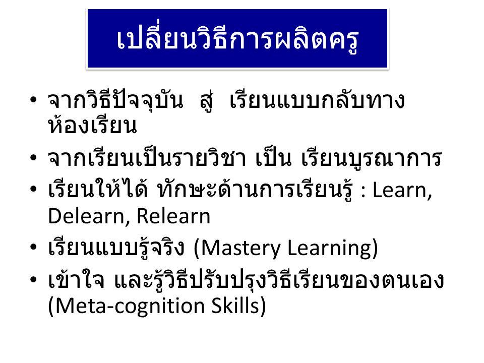 เปลี่ยนวิธีการผลิตครู