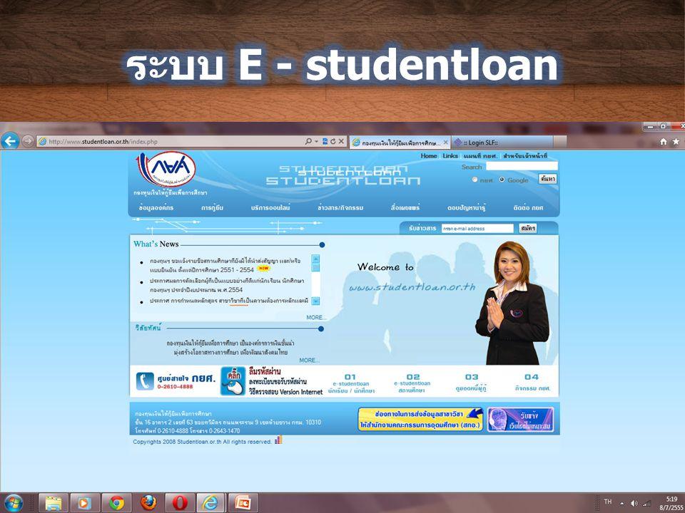 ระบบ E - studentloan