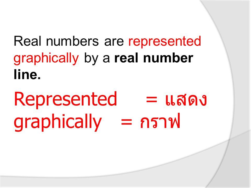 Represented = แสดง graphically = กราฟ