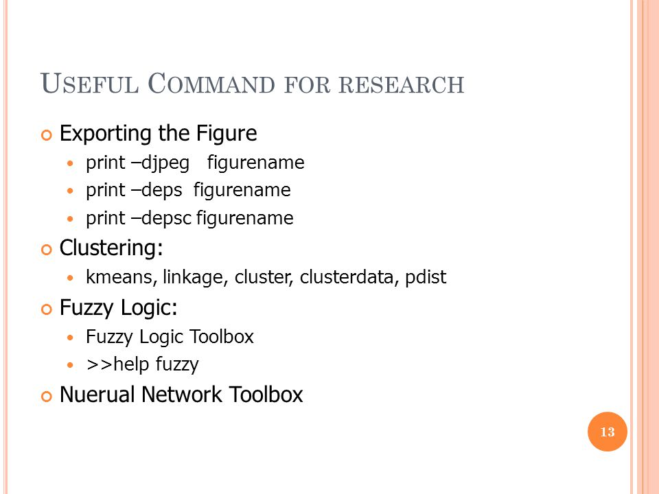 Useful Command for research