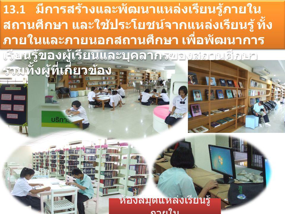 ห้องสมุดแหล่งเรียนรู้ภายใน