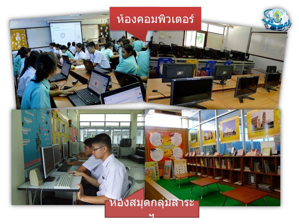 ห้องคอมพิวเตอร์ ห้องสมุดกลุ่มสาระฯ