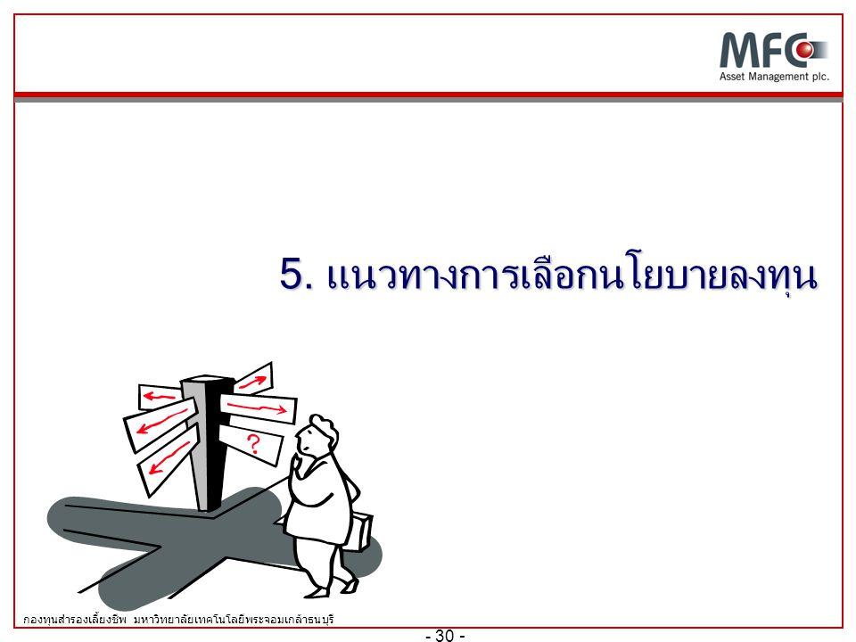 5. แนวทางการเลือกนโยบายลงทุน