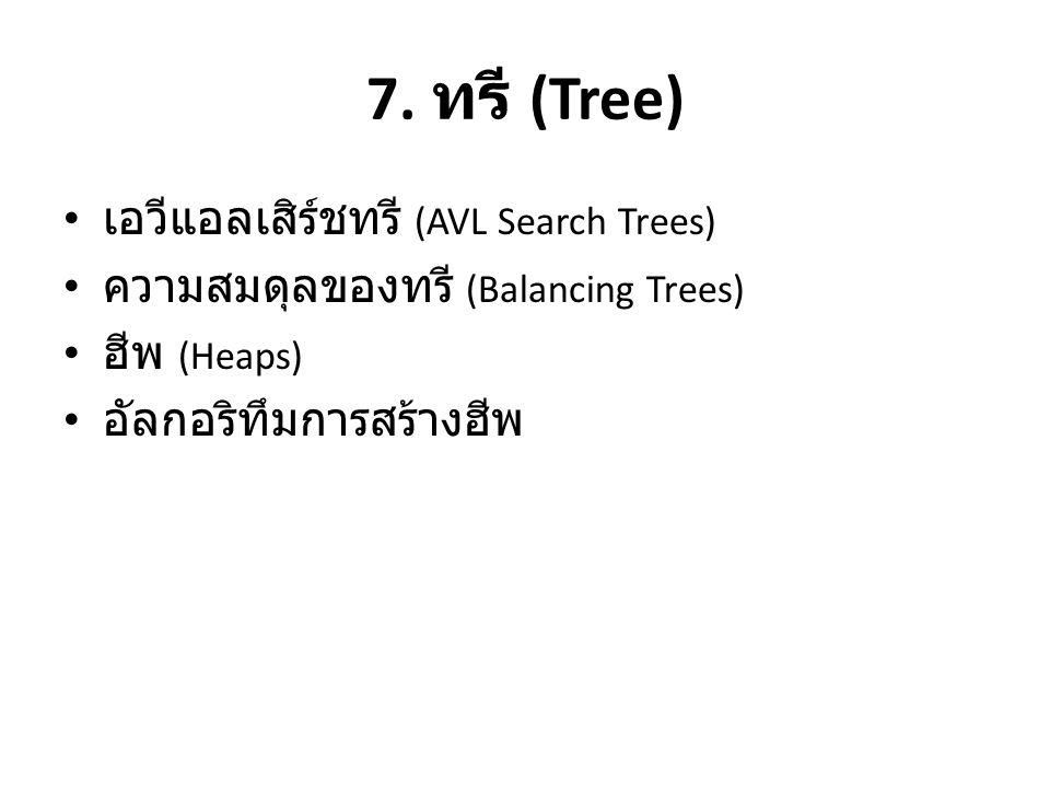 7. ทรี (Tree) เอวีแอลเสิร์ชทรี (AVL Search Trees)