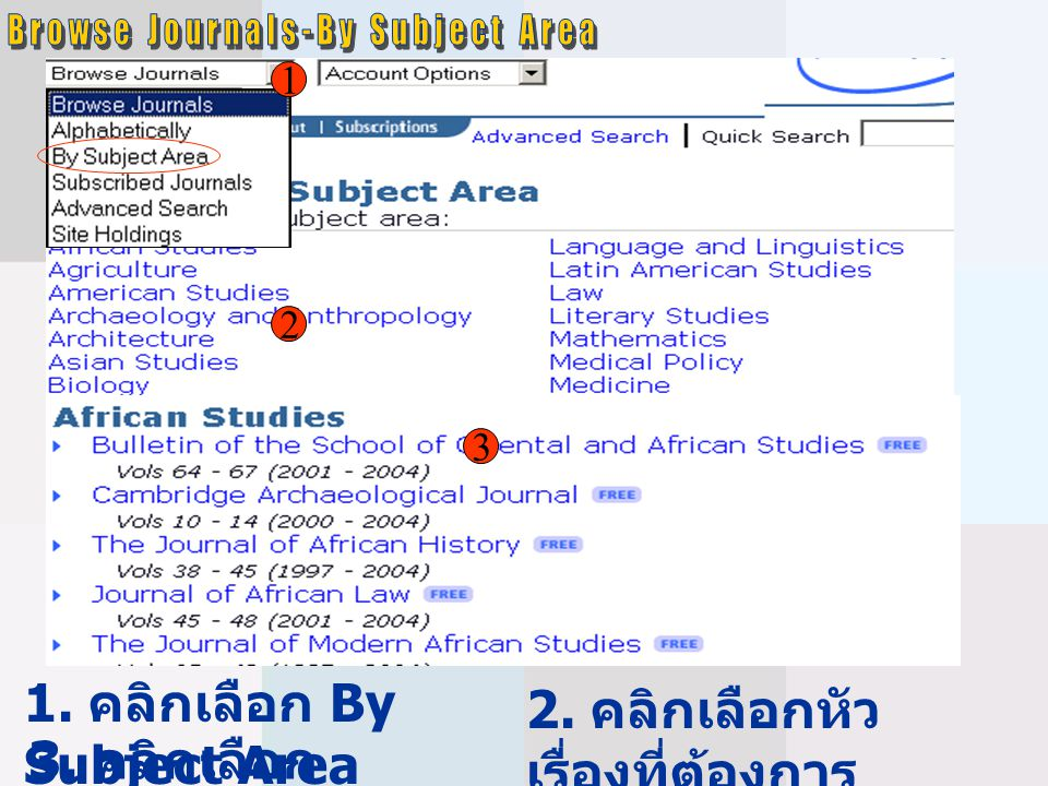 Browse Journals-By Subject Area