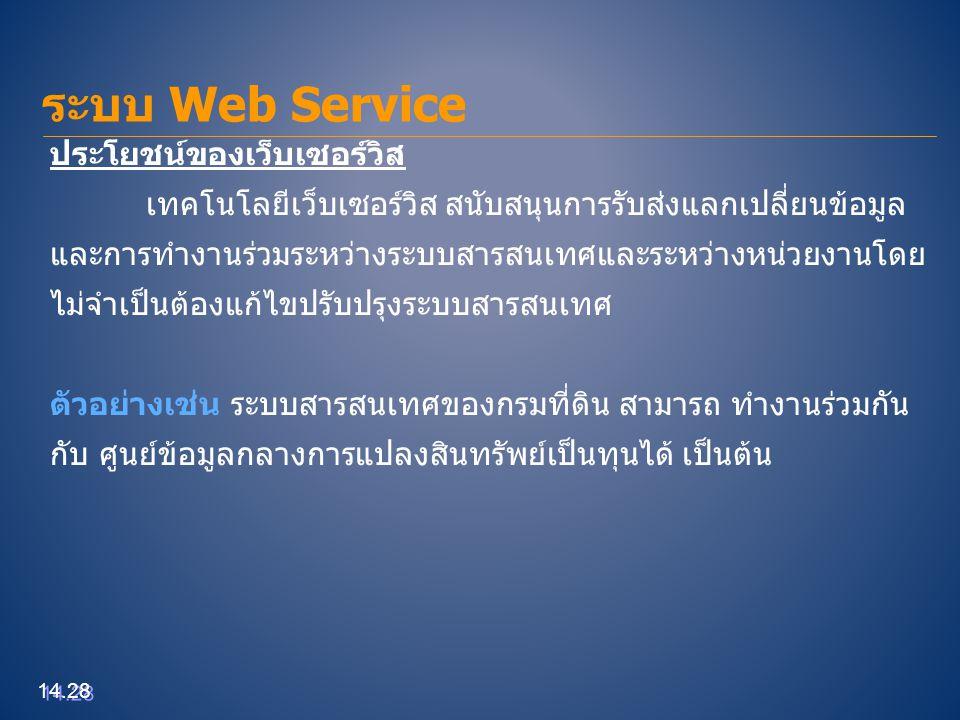 ระบบ Web Service ประโยชน์ของเว็บเซอร์วิส