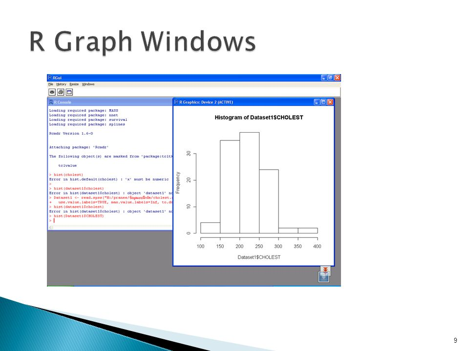 R Graph Windows