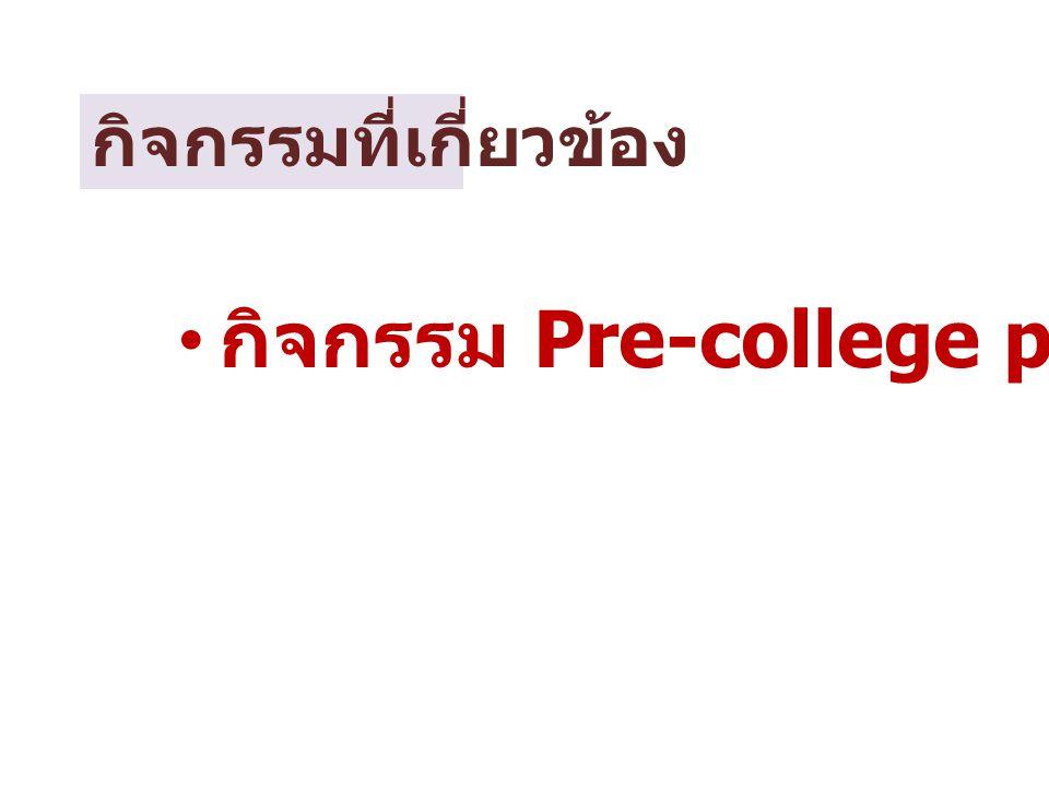 กิจกรรม Pre-college program