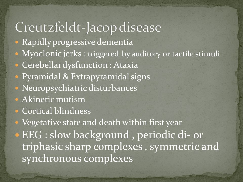 Creutzfeldt-Jacop disease
