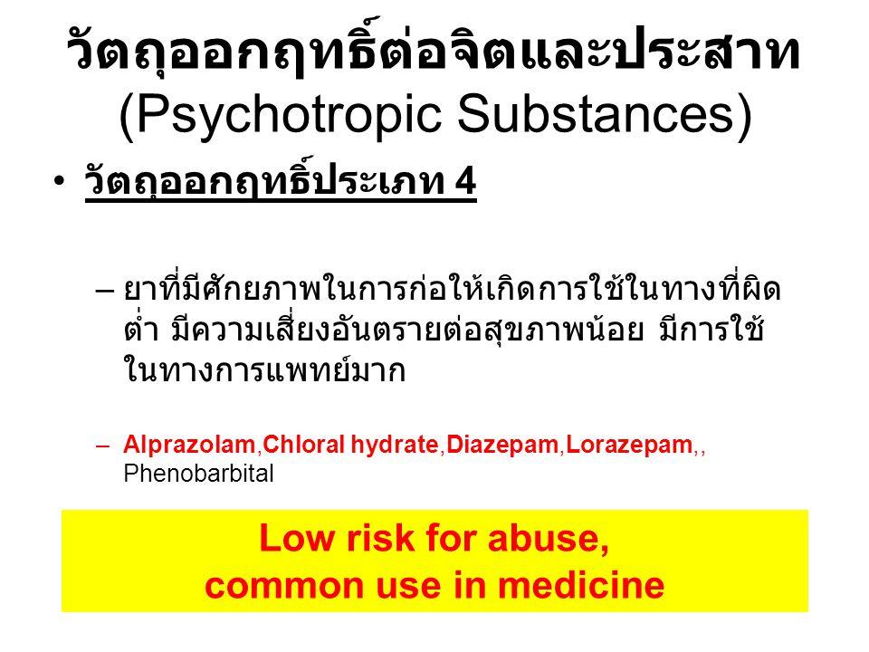 วัตถุออกฤทธิ์ต่อจิตและประสาท (Psychotropic Substances)
