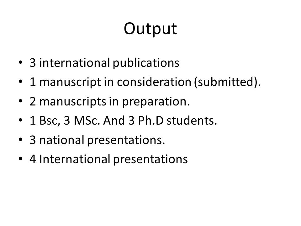 Output 3 international publications