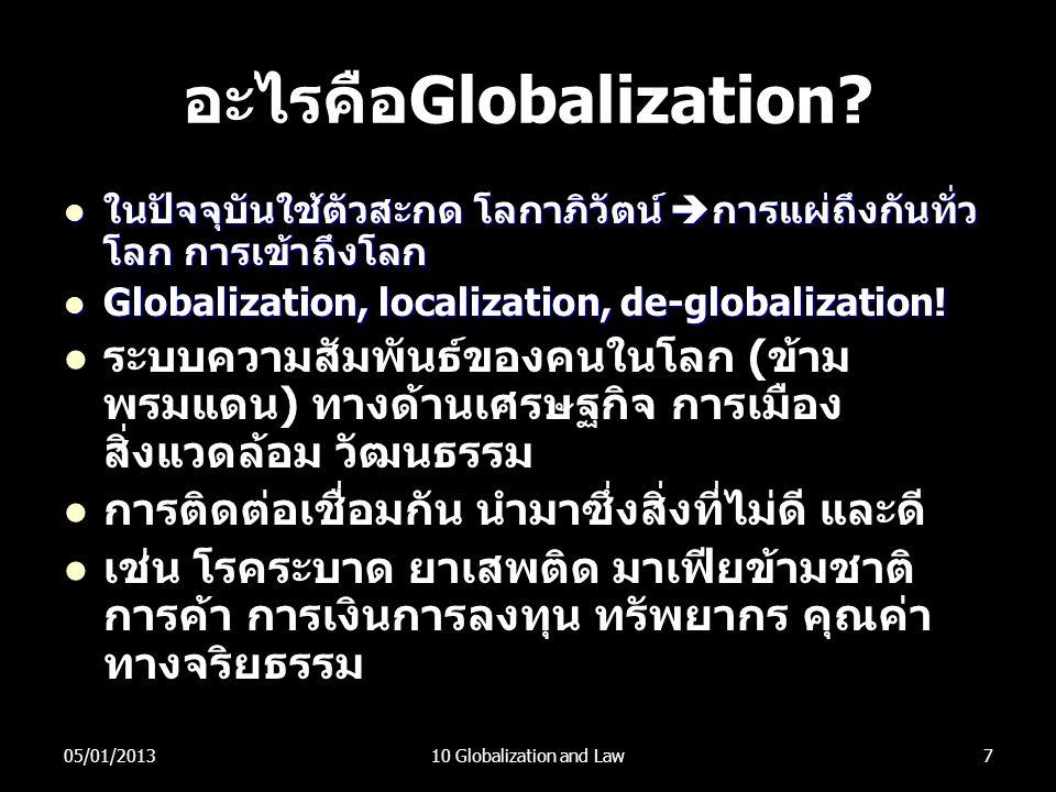 อะไรคือGlobalization
