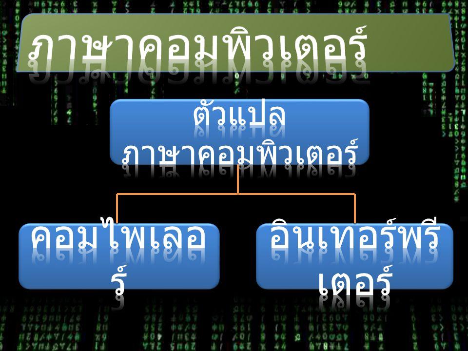 ตัวแปลภาษาคอมพิวเตอร์