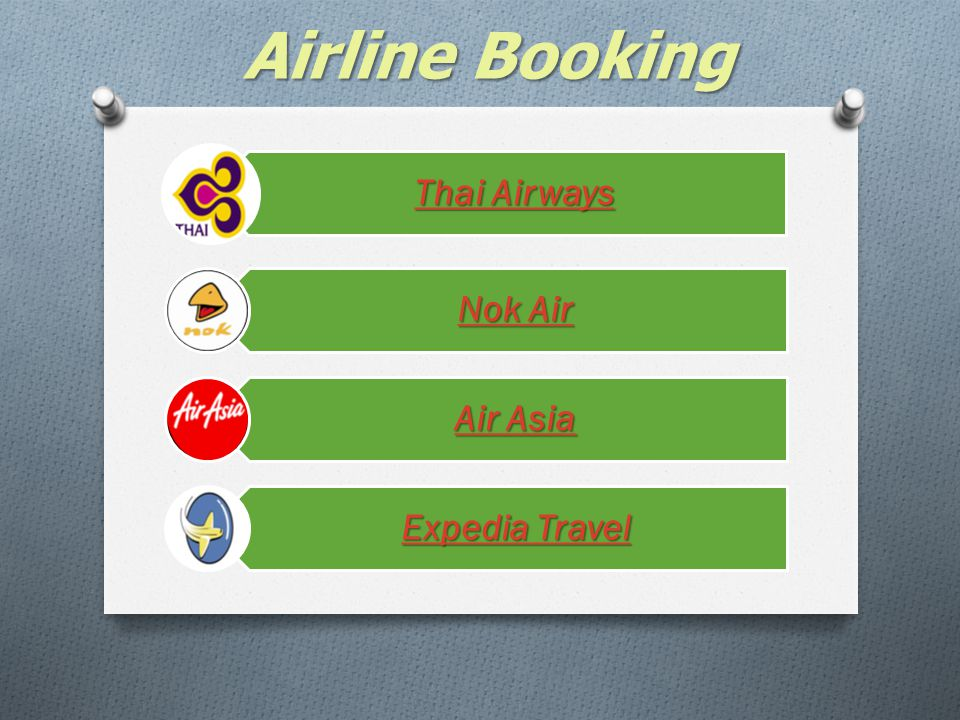 Airline Booking Thai Airways Nok Air Air Asia Expedia Travel