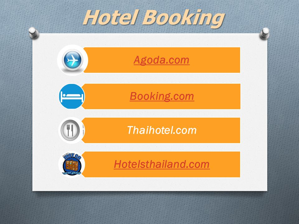 Hotel Booking Agoda.com Booking.com Thaihotel.com Hotelsthailand.com