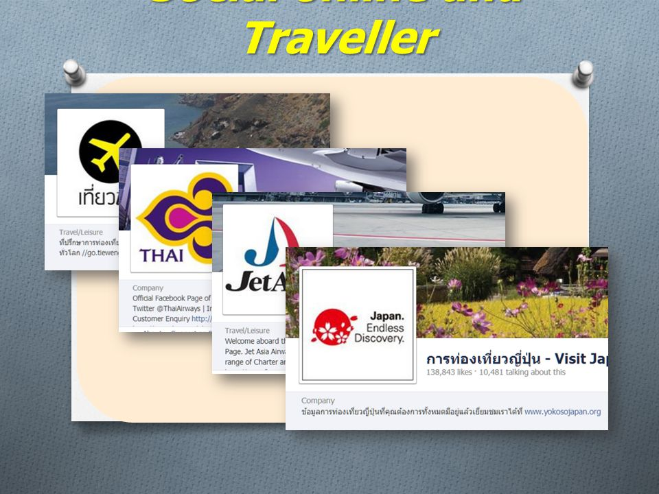 Social online and Traveller