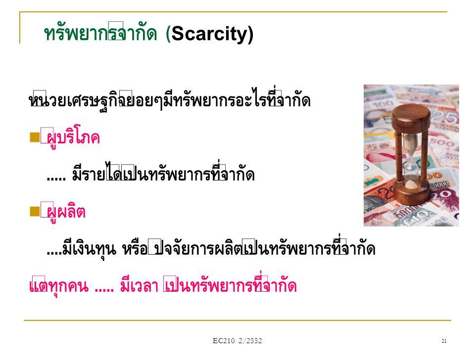 ทรัพยากรจำกัด (Scarcity)